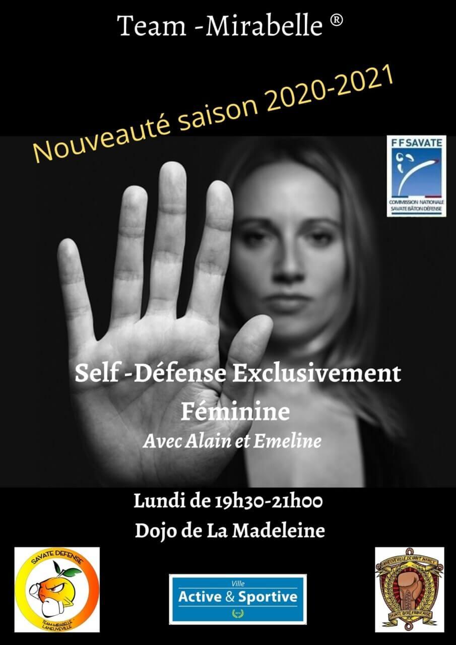 Savate Laneuveville self-feminine-saison-2020-2021 Nouveauté cette saison : self défense 100% féminine !